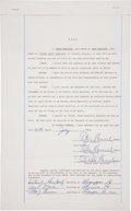 Basketball Collectibles:Others, 1972 Peter Maravich Triple-Signed Last Will & Testament....