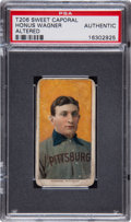 Baseball Cards:Singles (Pre-1930), 1910 T206 Sweet Caporal Honus Wagner PSA Authentic. ...