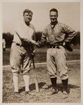 Autographs:Photos, Circa 1930 Babe Ruth Signed Oversized Photograph....