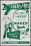 "Movie Posters:Exploitation, Naked Youth/Beauty and the Cave Combo (Cinema Associates, Inc., 1961). One Sheet (27"" X 41""). Exploitation.. ..."
