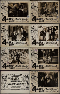 """Duck Soup (Paramount, R-1940s). Australian Lobby Card Set of 8 (11"""" X 14""""). Comedy. ... (Total: 8 Items)"""