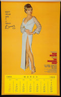 "Movie Posters:Action, The Wrecking Crew (Columbia, 1969). Pinup Calendar (13"" X 21.5"").Action.. ..."