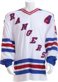 Hockey Collectibles:Equipment, 1997-98 Wayne Gretzky Game Worn New York Rangers Jersey....