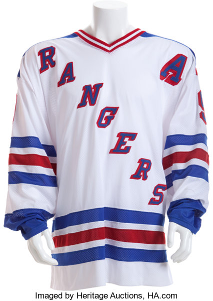 quality design f6a6e 3cf59 1997-98 Wayne Gretzky Game Worn New York Rangers Jersey ...