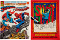 Bronze Age (1970-1979):Superhero, Superman vs. the Amazing Spider-Man/Spirit Coloring Book TreasurySize Group (Various Publishers, 1974-76) Condition: Average ...(Total: 2 Items)