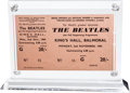 Music Memorabilia:Tickets, The Beatles Unused King's Hall Concert Ticket (1964)....