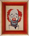 Music Memorabilia:Original Art, Frank Sinatra - Original Clown Painting by Sinatra, Signed....