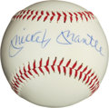 """Baseball Collectibles:Balls, Mickey Mantle Single Signed """"Upper Deck Authenticated"""" Baseball. ..."""