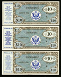 Military Payment Certificates:Series 472, Series 472 $10 Extremely Fine-About New Three Examples.. ... (Total: 3 notes)
