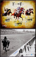Miscellaneous Collectibles:General, Horse Racing Legends Signed Oversized Photographs Lot of 2....