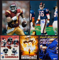 Football Collectibles:Photos, Football Stars and Legends Signed Oversized Photographs Lot of 5....