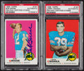 Football Cards:Singles (1960-1969), 1969 Topps Larry Csonka (Rookie) and Bob Griese Signed Pair (2) - PSA/DNA Encapsulated. ...