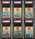 Baseball Cards:Lots, 1967 Kahn's Weiners New York Mets PSA Graded Collection (6). ...