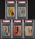 """Non-Sport Cards:Unopened Packs/Display Boxes, 1952 Topps """"Wings"""" PSA-Graded Cello Packs (5 Packs). ..."""