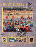 Music Memorabilia:Autographs and Signed Items, Jerry Garcia Band Signed Promo Poster....