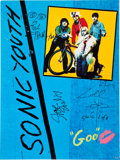 Music Memorabilia:Autographs and Signed Items, Sonic Youth Band-Signed Promo Poster....
