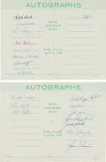 Baseball Collectibles:Others, 1960 New York Yankees Team Signed Autograph Books Lot of 2 (23Signatures) - With Mantle and Maris!...