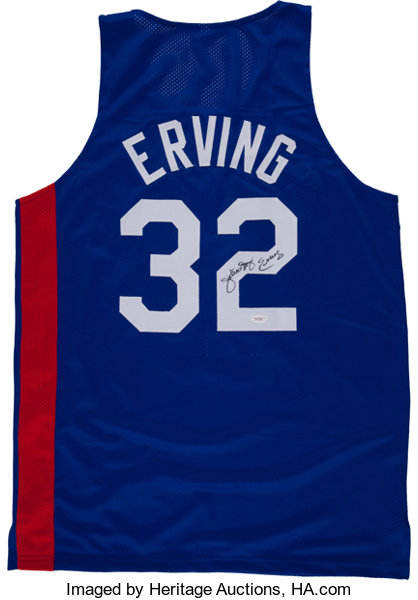 classic fit abd56 36ccc Julius Erving Signed Jersey.... Basketball Collectibles ...