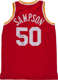 Basketball Collectibles:Uniforms, Ralph Sampson Signed Jersey...