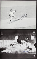 Baseball Collectibles:Photos, Whitey Ford and Willie Mays Signed Oversized Photographs Lot of 2....