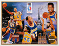 Basketball Collectibles:Photos, Lakers Legends Multi Signed Print....