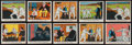 Non-Sport Cards:Sets, 1937 R41 Dick Tracy High Grade High Number (#'s 121-144) CompleteSet Trio (3)....