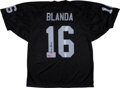 Football Collectibles:Uniforms, George Blanda Signed Jersey....