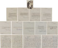 Movie/TV Memorabilia:Autographs and Signed Items, Elizabeth Taylor Early Signed Letters.... (Total: 13 Items)