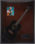 Movie/TV Memorabilia:Autographs and Signed Items, Roy Rogers Autographed Guitar....