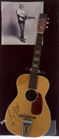 Music Memorabilia:Autographs and Signed Items, Carl Perkins Signed Guitar....