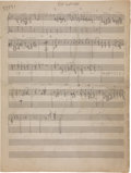 "Music Memorabilia:Sheet Music, Duke Ellington ""So Long"" Handwritten Sheet Music...."