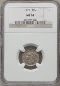 Three Cent Nickels: , 1871 3CN MS62 NGC. NGC Census: (19/153). PCGS Population (16/163).Mintage: 603,000. Numismedia Wsl. Price for problem free...