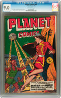 Golden Age (1938-1955):Science Fiction, Planet Comics #59 (Fiction House, 1949) CGC VF/NM 9.0 Off-whitepages....
