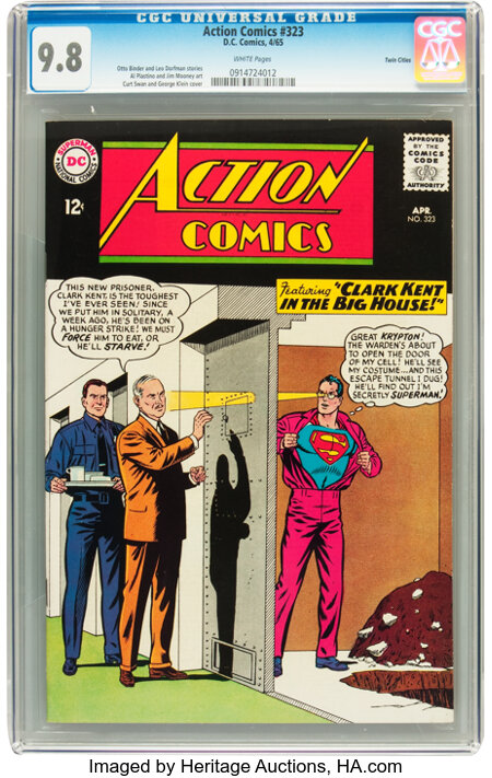 Action Comics #323 Twin Cities pedigree (DC, 1965) CGC NM/MT 9.8 White pages....