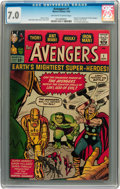 Silver Age (1956-1969):Superhero, The Avengers #1 (Marvel, 1963) CGC FN/VF 7.0 Off-white to white pages....