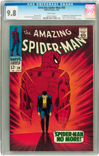 The Amazing Spider-Man #50 (Marvel, 1967) CGC NM/MT 9.8 White pages