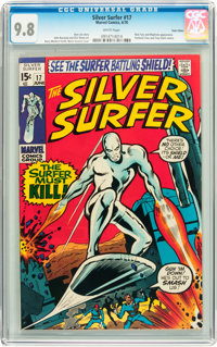 The Silver Surfer #17 Twin Cities pedigree (Marvel, 1970) CGC NM/MT 9.8 White pages