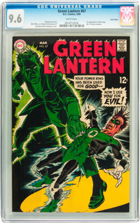 Green Lantern #67 Twin Cities pedigree (DC, 1969) CGC NM+ 9.6 White pages