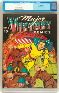 Major Victory Comics #3 Big Apple pedigree (H. Clay Glover Company, 1945) CGC NM- 9.2 Off-white to white pages