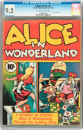 Golden Age (1938-1955):Adventure, Single Series #24 Alice in Wonderland (United Features Syndicate, 1940) CGC NM- 9.2 Off-white to white pages....