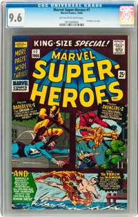Marvel Super Heroes #1 (Marvel, 1966) CGC NM+ 9.6 Off-white to white pages