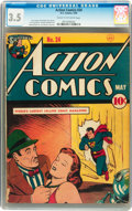 Golden Age (1938-1955):Superhero, Action Comics #24 (DC, 1940) CGC VG- 3.5 Cream to off-white pages....