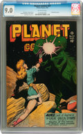 Golden Age (1938-1955):Science Fiction, Planet Comics #47 (Fiction House, 1947) CGC VF/NM 9.0 Off-white pages....