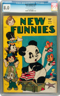 Golden Age (1938-1955):Funny Animal, New Funnies #76 (Dell, 1943) CGC VF 8.0 Off-white to whitepages....