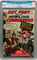 Silver Age (1956-1969):War, Sgt. Fury and His Howling Commandos #1 Twin Cities pedigree (Marvel, 1963) CGC FN+ 6.5 White pages....