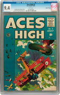 Golden Age (1938-1955):Adventure, Aces High #3 Gaines File pedigree 8/12 (EC, 1955) CGC NM 9.4 White pages....