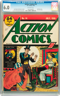 Action Comics #14 (DC, 1939) CGC FN 6.0 Off-white pages