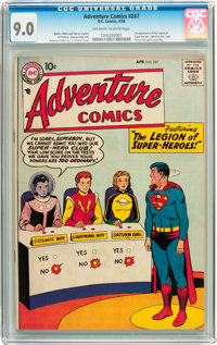 Adventure Comics #247 (DC, 1958) CGC VF/NM 9.0 Off-white to white pages