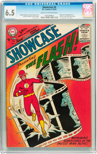 Showcase #4 The Flash (DC, 1956) CGC FN+ 6.5 Cream to off-white pages