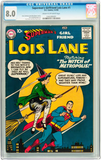 Superman's Girlfriend Lois Lane #1 (DC, 1958) CGC VF 8.0 Cream to off-white pages